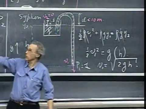 Lec 28: Hydrostatics, Archimedes' Principle, Fluid Dynamics | 8.01 Classical Mechanics (Lewin)