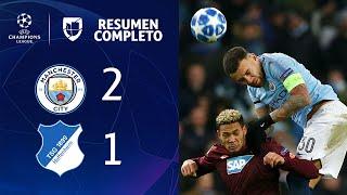 Manchester City 2-1 Hoffenheim - GOLES Y RESUMEN - Grupo F - UEFA Champions League