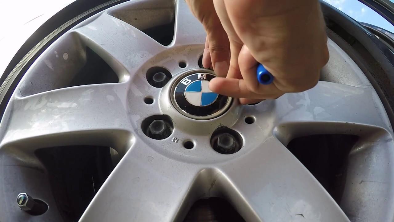 Bmw Wheel Center Cap Emblem Replacement Youtube