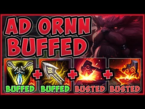 WTF! IS RIOT TROLLING US WITH THESE ORNN BUFFS?? AD ORNN SEASON 9 TOP GAMEPLAY! - League Of Legends