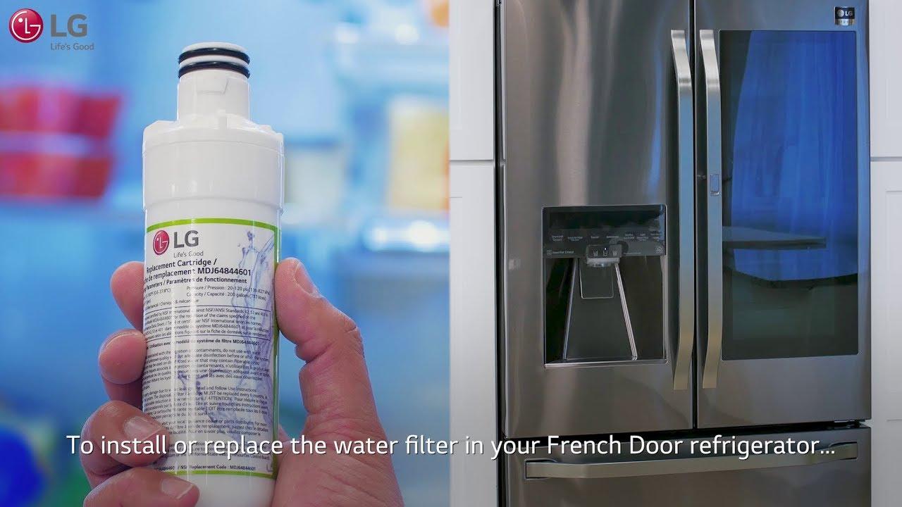 Lg French Door Refrigerator Installing The Upper Interior Water