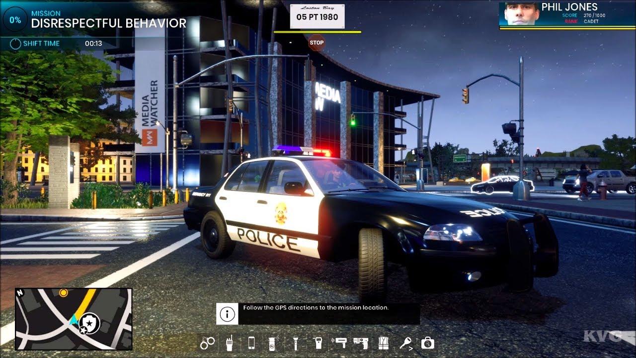 Playthrough Night Open World Free Roam - Police Simulator