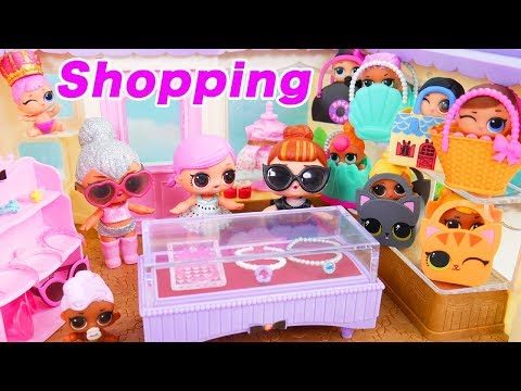 Don't Wake Shimmer and Shine Mystery LOL Dolls Bedtime Routine Haunted House LUXE DIY Shopping Mall!
