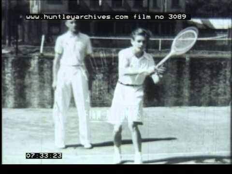 Tennis Training, 1930's - Film 3089
