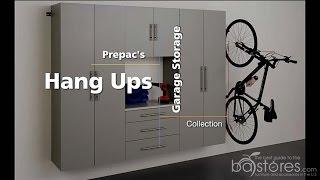 Prepac's HangUps Storage Installation at ba-stores.com