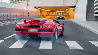 45+ Lamborghinis Taking over the Streets of Monaco - Accelerations, Launch Controls & Powerslide !