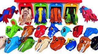 레고 공룡 블럭 변신 놀이 쥬라기월드 공룡 타고차고지 …