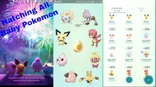 Pokemon Go Gen 2 Hatching 8 All Baby Pokemon (including Tyrogue)!