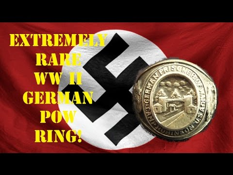 RARE WWII GERMAN POW RING! PLUS 6 SILVER RINGS!