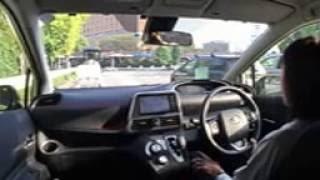 Toyota Sienta Test Drive in Japan