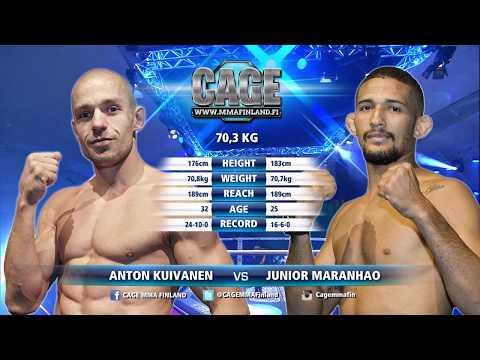 CAGE42Main Event: Anton Kuivanen vs Junior Maranhao Full Fight MMA
