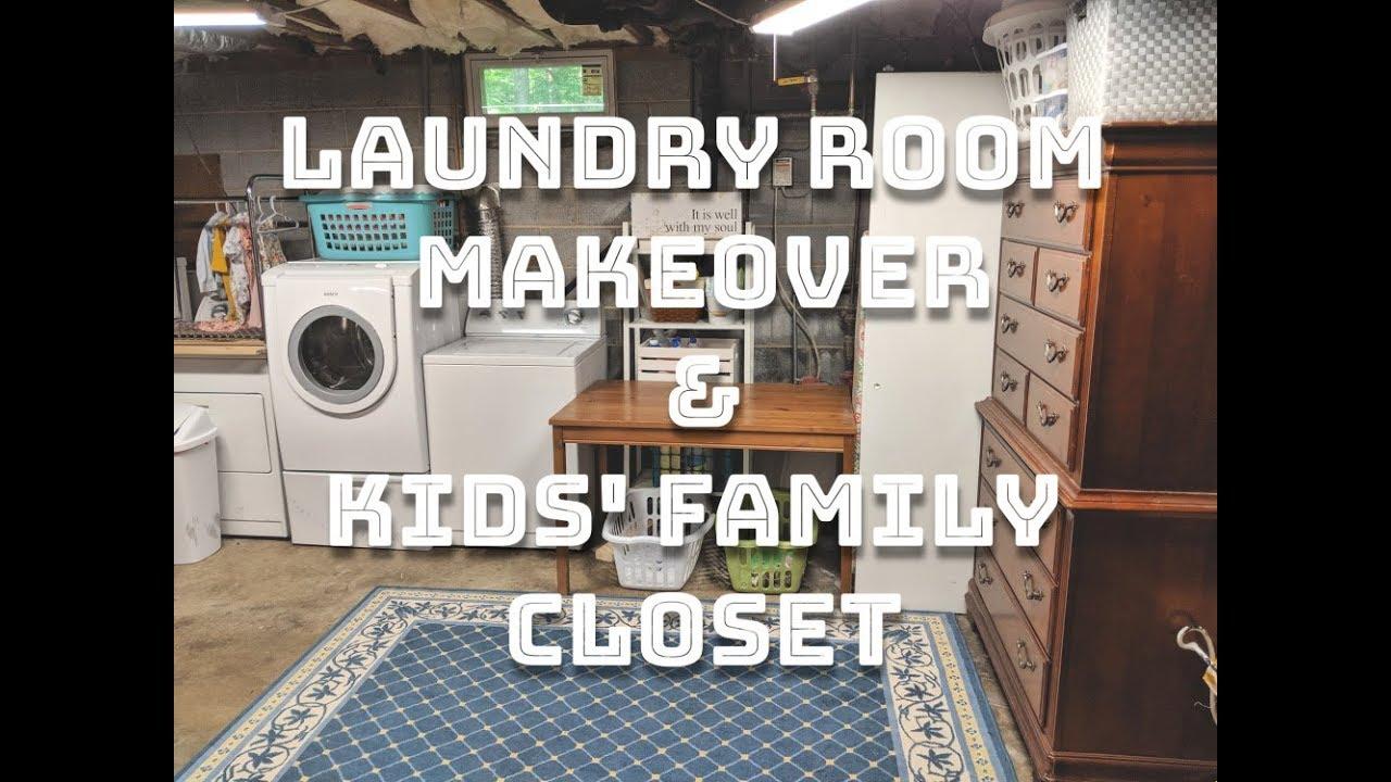 Laundry Room Makeover Kids Family Closet Youtube