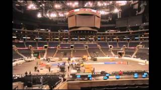 Staples Center changes from NHL to NBA in 60 seconds - 2012-05-21