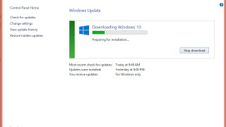 Windows 10 upgrade  installation stuck fix