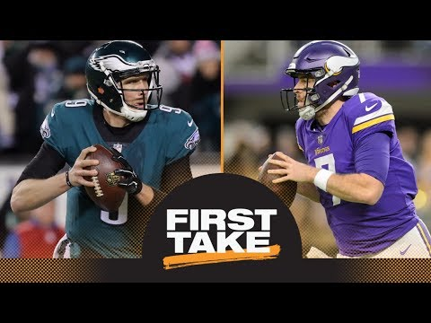 Stephen A. and Max make predictions for Vikings-Eagles NFC championship | First Take | ESPN