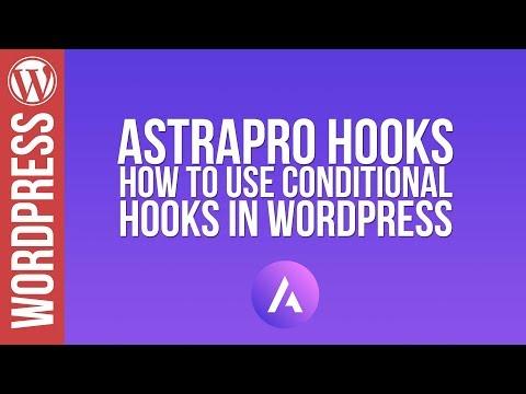 Wordpress: Astra Pro & Elementor - Hooks Tutorial - 동영상