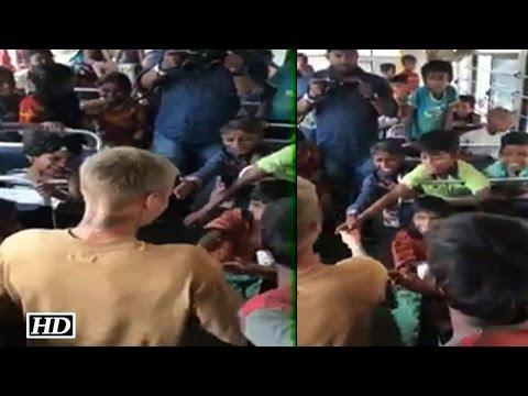 Pop Sensation Justin Bieber MEETS Underprivileged Children