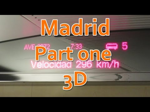 Madrid. Ave and old Zero Metro station 3d