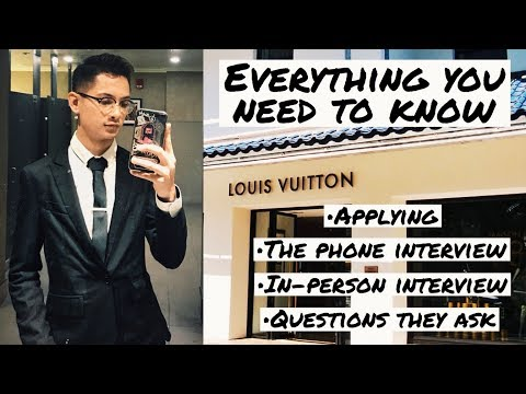 MY INTERVIEW AT LOUIS VUITTON (SECRETS REVEALED)