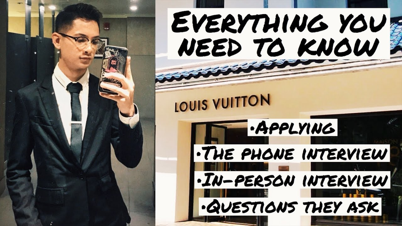 MY INTERVIEW AT LOUIS VUITTON (SECRETS REVEALED) - YouTube c5ce33b860
