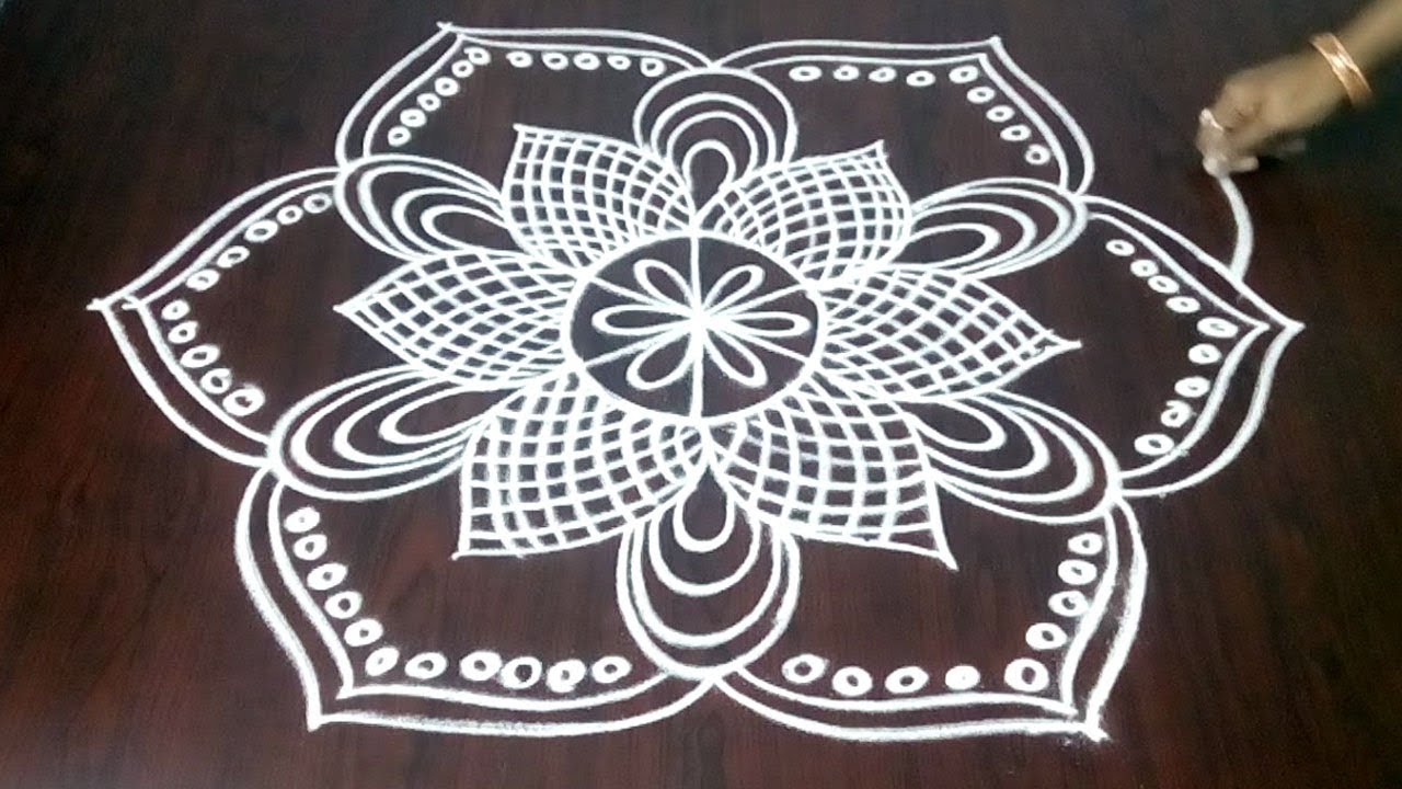 How To Draw Beautiful Rangoli With Simple Dots 3 x 2 || Creative Kolam || Fashion World