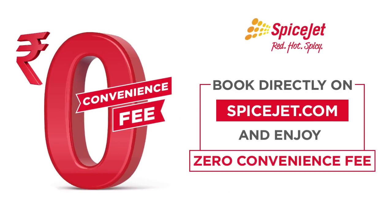 SpiceJet Zero Convenience Offer on Flight Booking