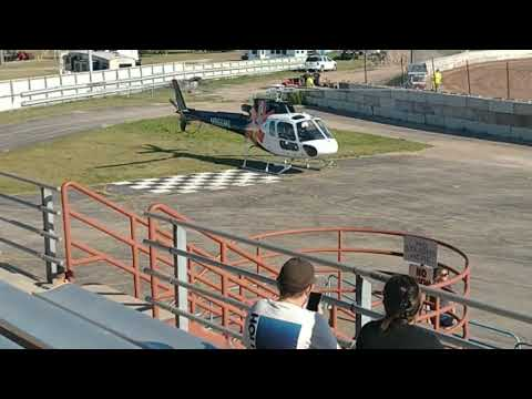 Summer night dirt track racing when the racing paused so the medEvac could take off to a local crash. Huge thanks to those that risk their lives to safe ours. - dirt track racing video image
