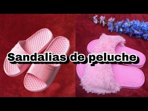SANDALIAS DE PELUCHE | Noely ❤️ - YouTube