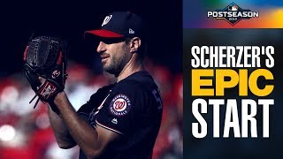 All 11 of Max Scherzer's Strikeouts in NLCS Game 2 (Nationals starter brought it!) | MLB Highlights