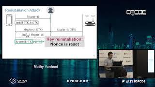 OPCDE 2018 Dubai - Improved KRACK Attacks Against WPA2 Implementations - Mathy Vanhoef