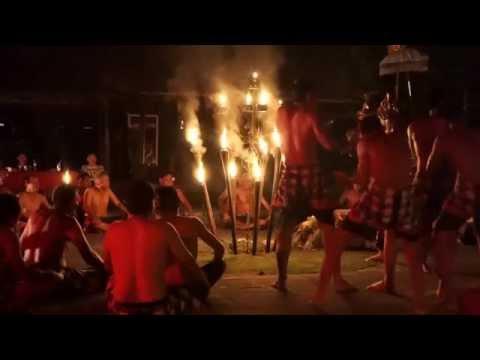 Balinese Kekek Fire Dance, Laka Leke, Ubud, Bali