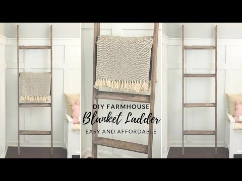 DIY FARMHOUSE BLANKET LADDER|💕VIEWER REQUESTED!!!💕