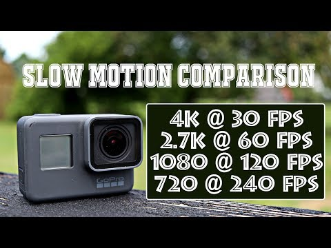 All GoPro Hero 5 Slow Motion Settings Compared