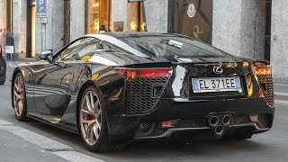 Lexus LFA Revs, acceleration and loud sound in Milan!!!