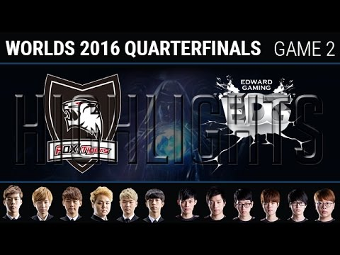 ROX Tigers vs Edward Gaming Game 2 Highlights, S6 Worlds 2016 Quarter final, ROX vs EDG G2