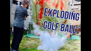 Golf Trick Shots (with exploding golf ball prank [I got him]) l Out Of This World