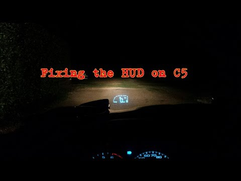 C5 Corvette How To Fix HUD Heads Up Display