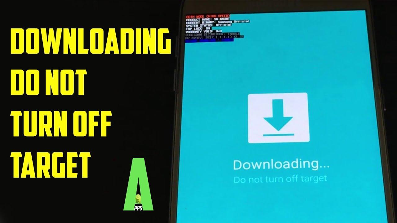 Odin mode downloading do not turn off target stuck