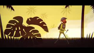 2D Character War Correspondent Scene (After Effects Animation)