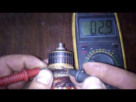 Проверка якоря коллекторного двигателя Омметром
