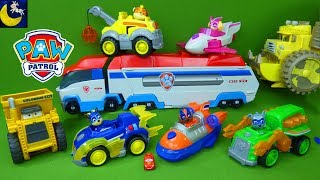 Lots of Paw Patrol Disney Cars Toys Mighty Pups SUPER PAWS Vehicles Transforming Paw Patroller Bus