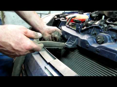 Продувка радиатора и замена вентилятора