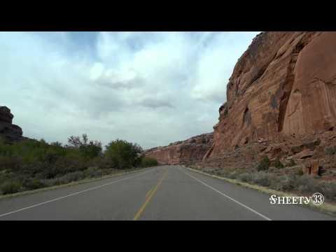 Driving through Canyonlands National Park (HD)