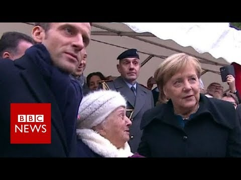 Previous girl errors Chancellor Merkel for Macron's spouse – BBC Information