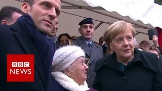 Old Lady Mistakes Chancellor Merkel For Macronand39s Wife - Bbc News