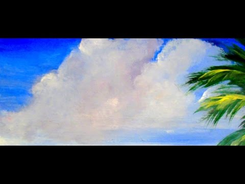 How to paint beautiful FlUFFY CLOUDS with Acrylic Paint 6 different ways, step by step