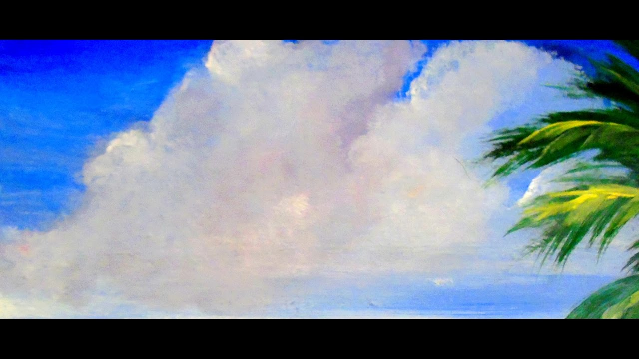 How To Paint Beautiful Fluffy Clouds With Acrylic Paint 6