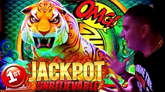 First HANDPAY JACKPOT On YouTube For Jinse Dao TIGER Slot Machine - $25 MAX BET