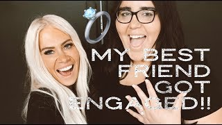MY BEST FRIEND GOT ENGAGED AT MY SALON!