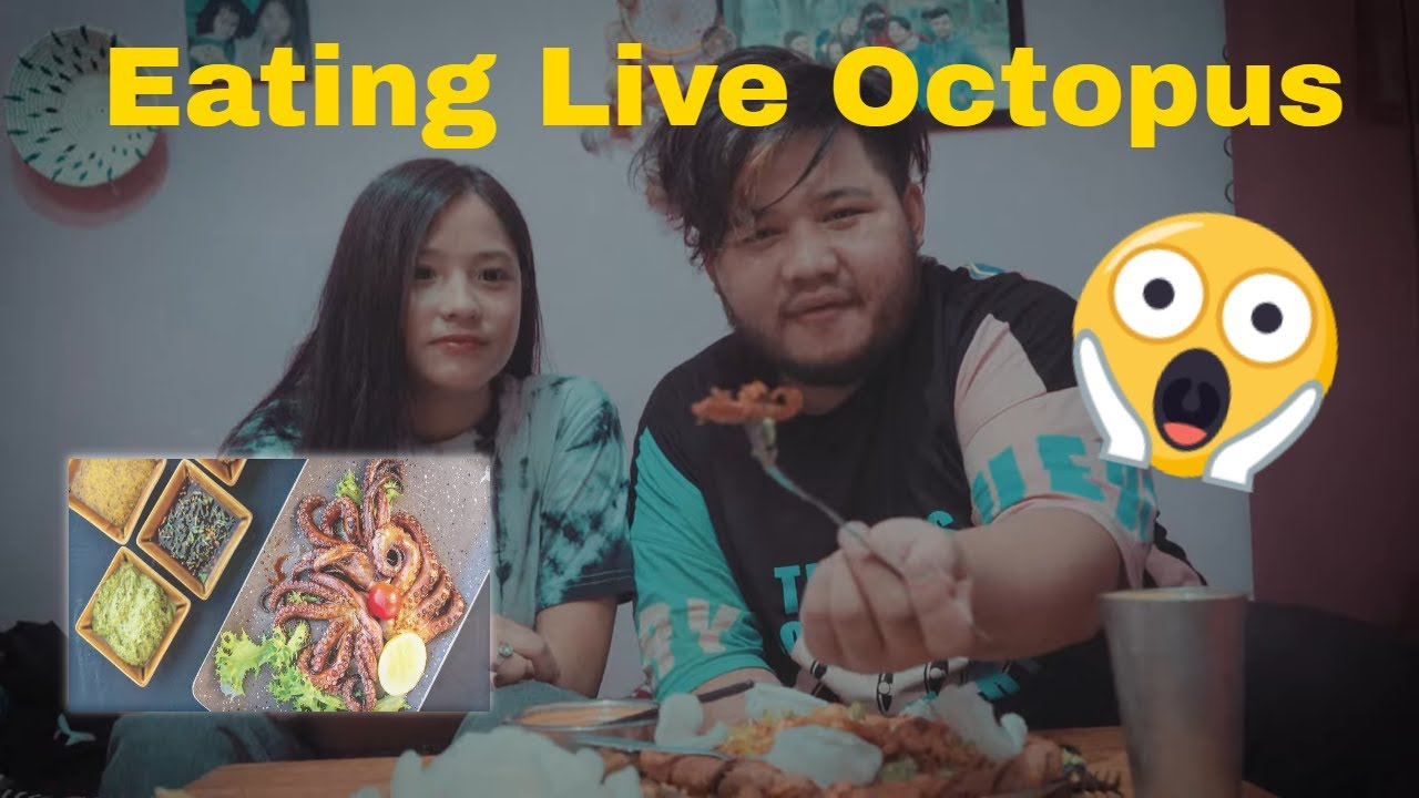 Mikasa And 2B Gamer Eating Live Octopus For The First Time ||Was It Delicious